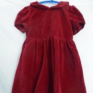 JOE FRESH, toddler, size 2, red velvet dress, BNWT